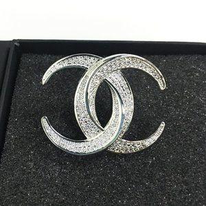 chanel diamond brooch